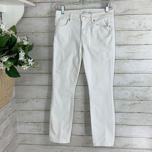 Loft Modern Skinny Crop White Jeans Size 25